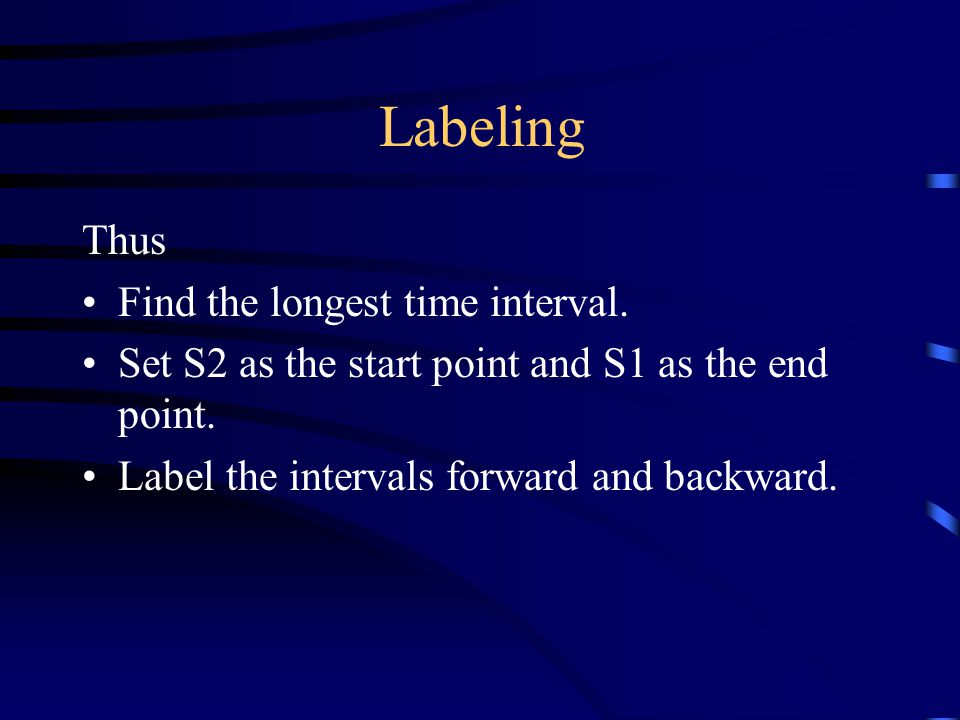Labeling Thus Find the longest time interval.