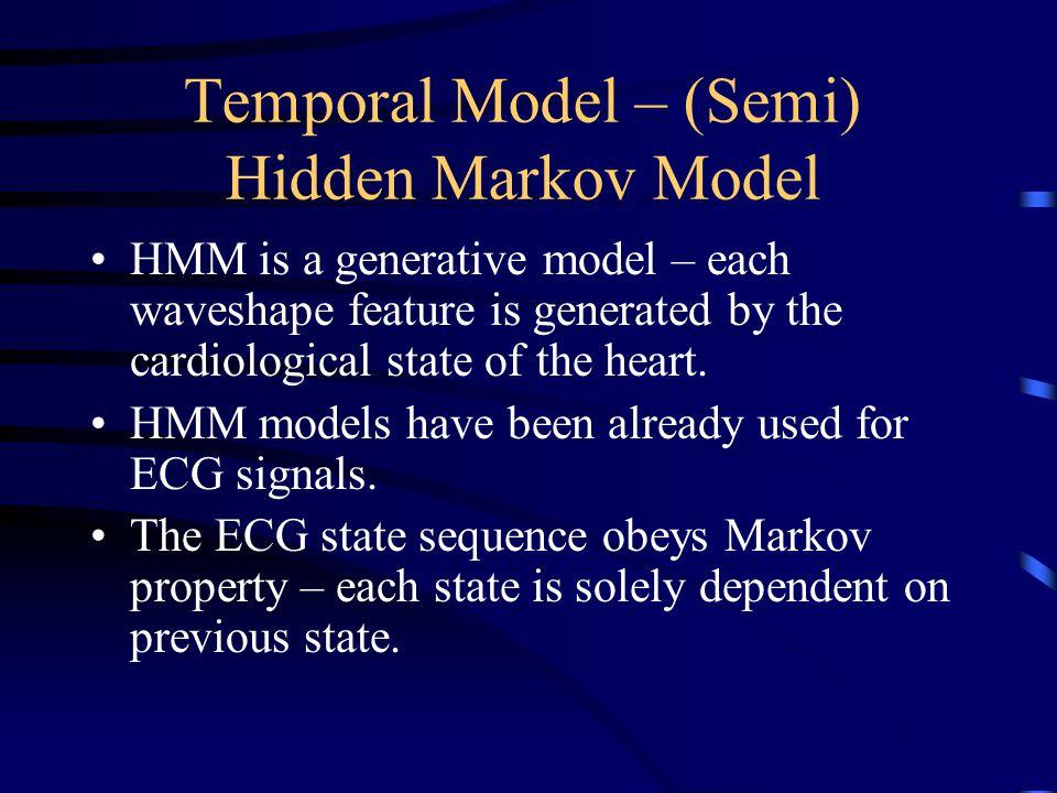 Temporal Model – (Semi) Hidden Markov Model