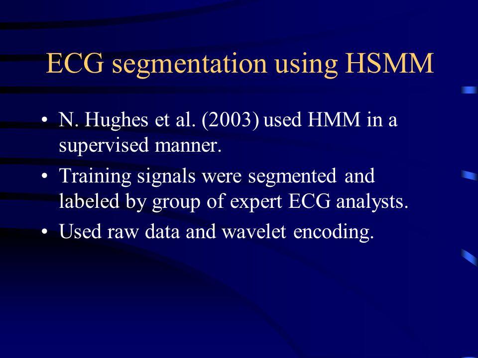 ECG segmentation using HSMM