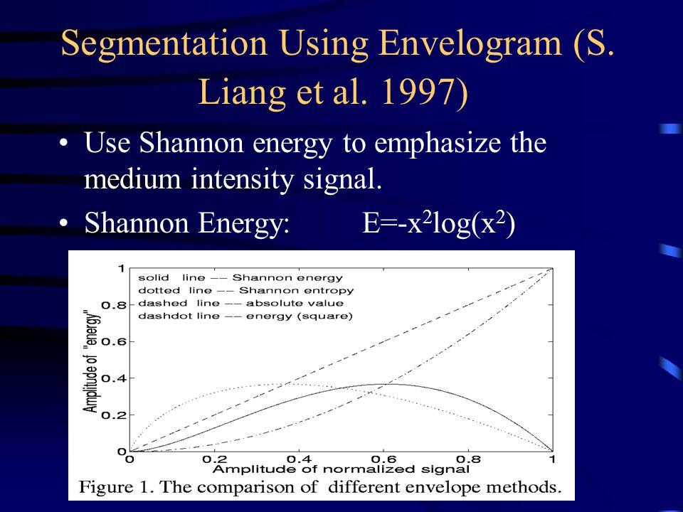 Segmentation Using Envelogram (S. Liang et al. 1997)