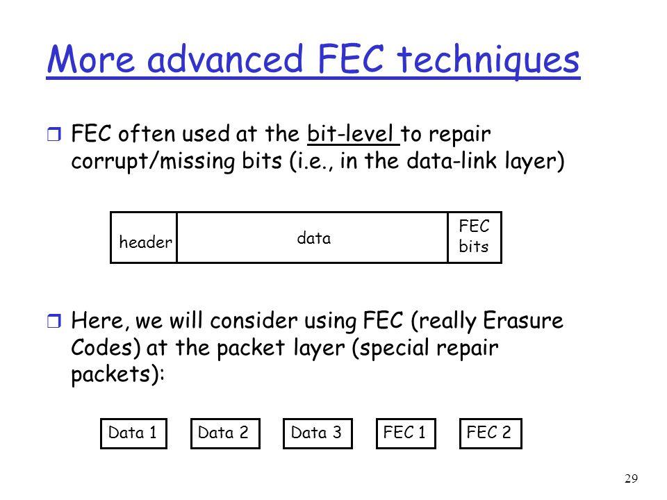 More advanced FEC techniques