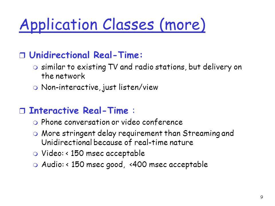 Application Classes (more)