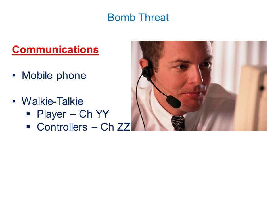 Communications Mobile phone Walkie-Talkie Player – Ch YY Controllers – Ch ZZ