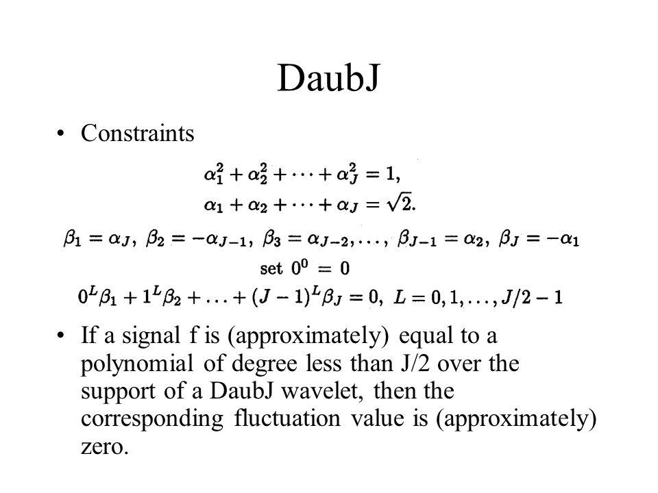 DaubJ Constraints.