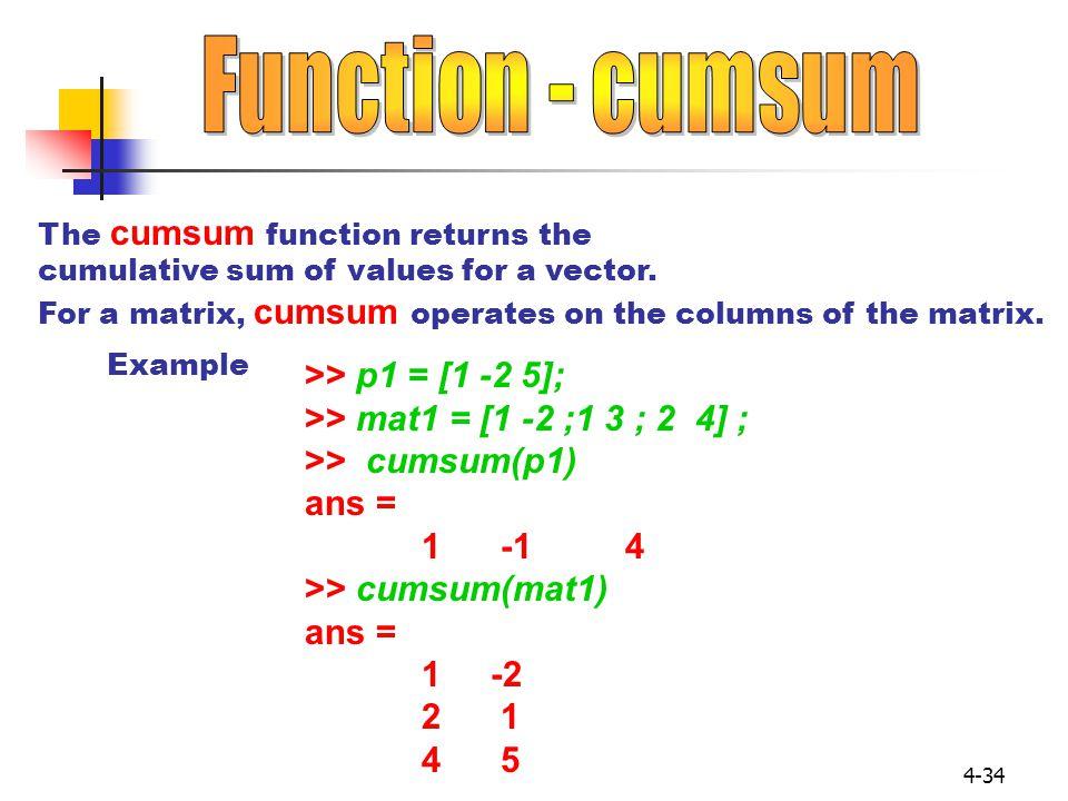 Function - cumsum