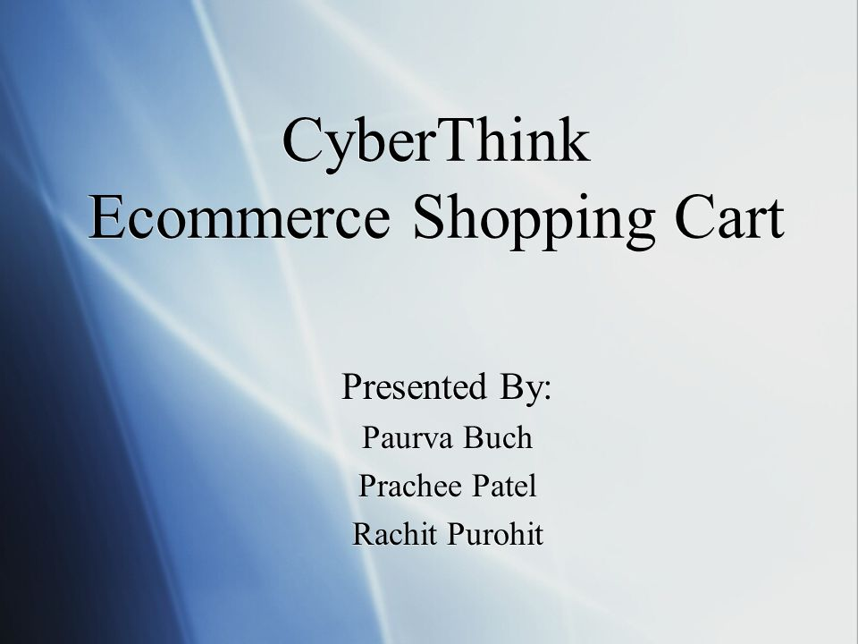 CyberThink Ecommerce Shopping Cart