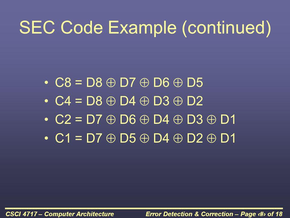 SEC Code Example (continued)
