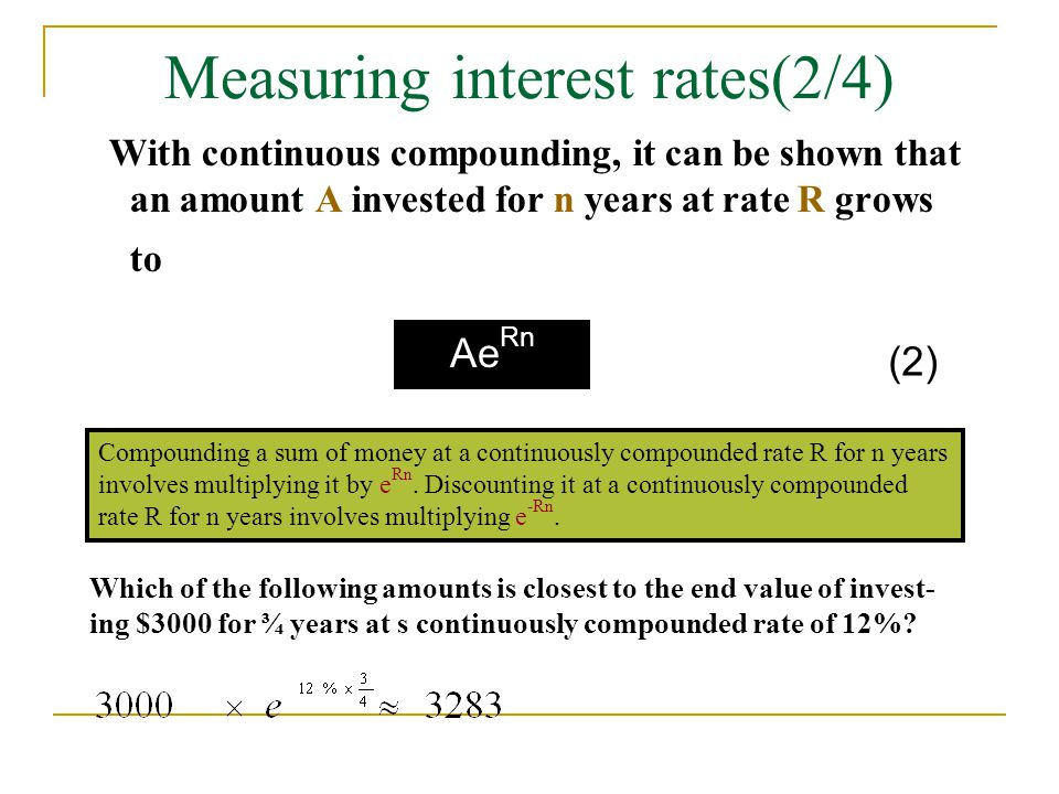 Measuring interest rates(2/4)