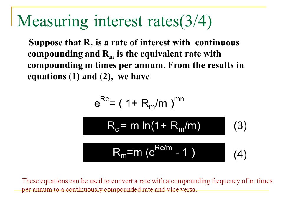 Measuring interest rates(3/4)