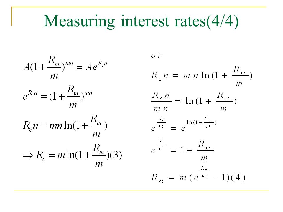 Measuring interest rates(4/4)