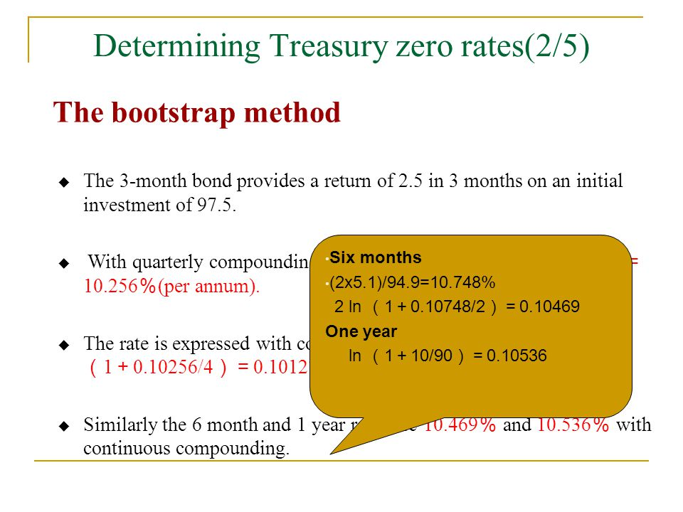 Determining Treasury zero rates(2/5)