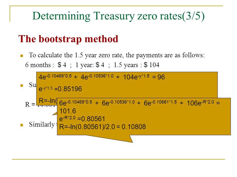Determining Treasury zero rates(3/5)