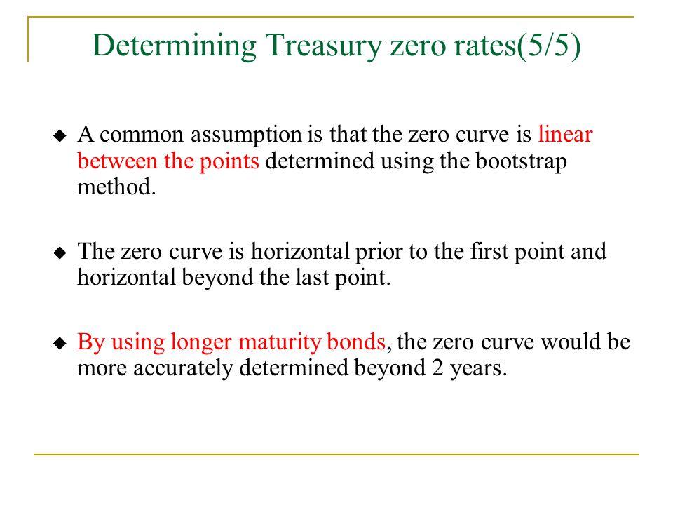 Determining Treasury zero rates(5/5)