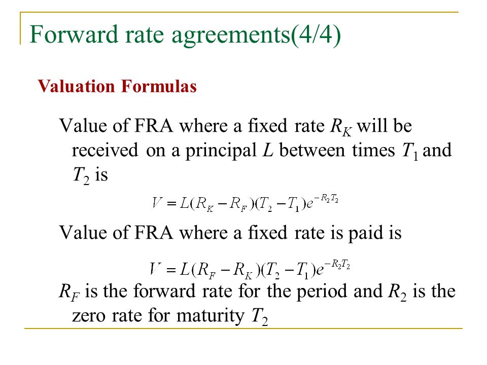 Forward rate agreements(4/4)