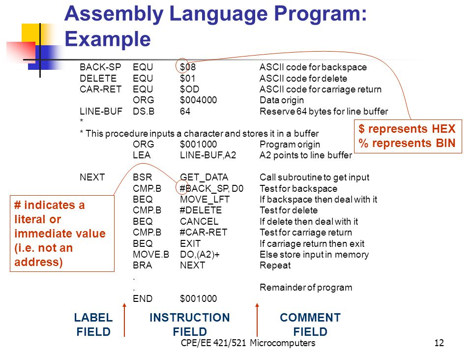 Assembly Language Program: Example