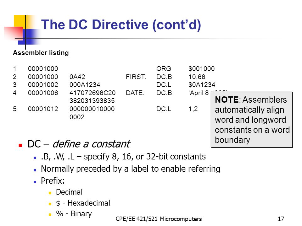 The DC Directive (cont'd)