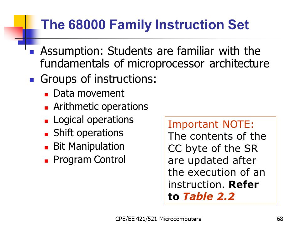The Family Instruction Set
