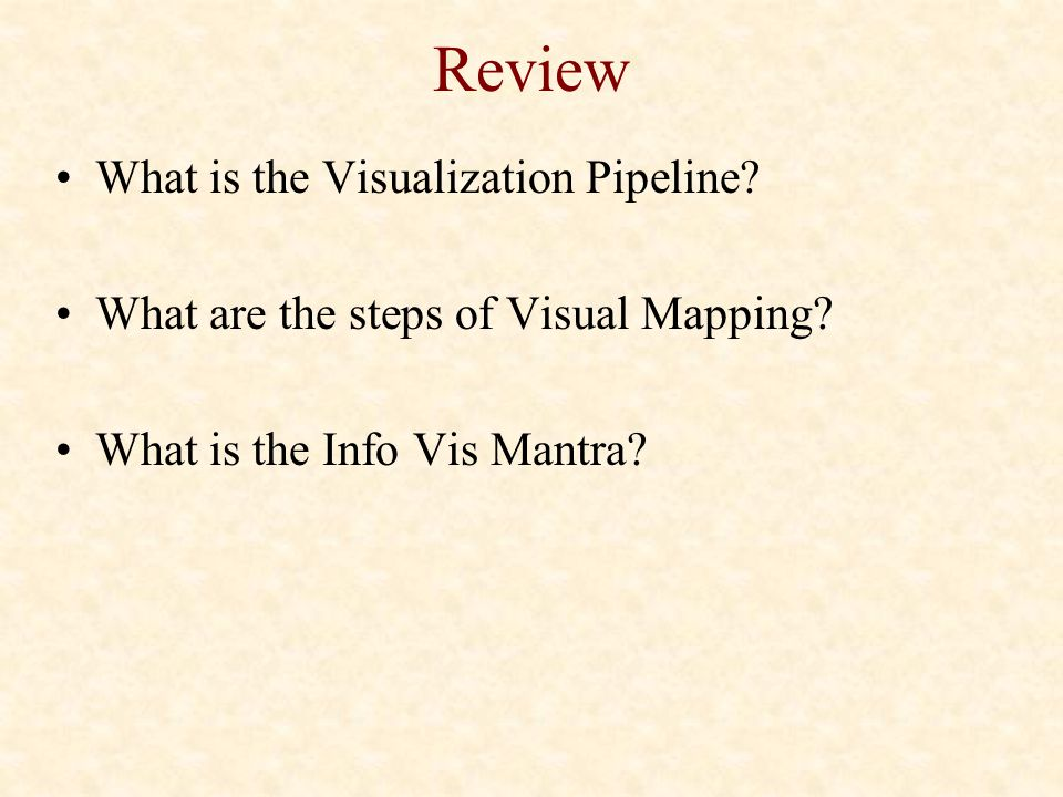Review What is the Visualization Pipeline
