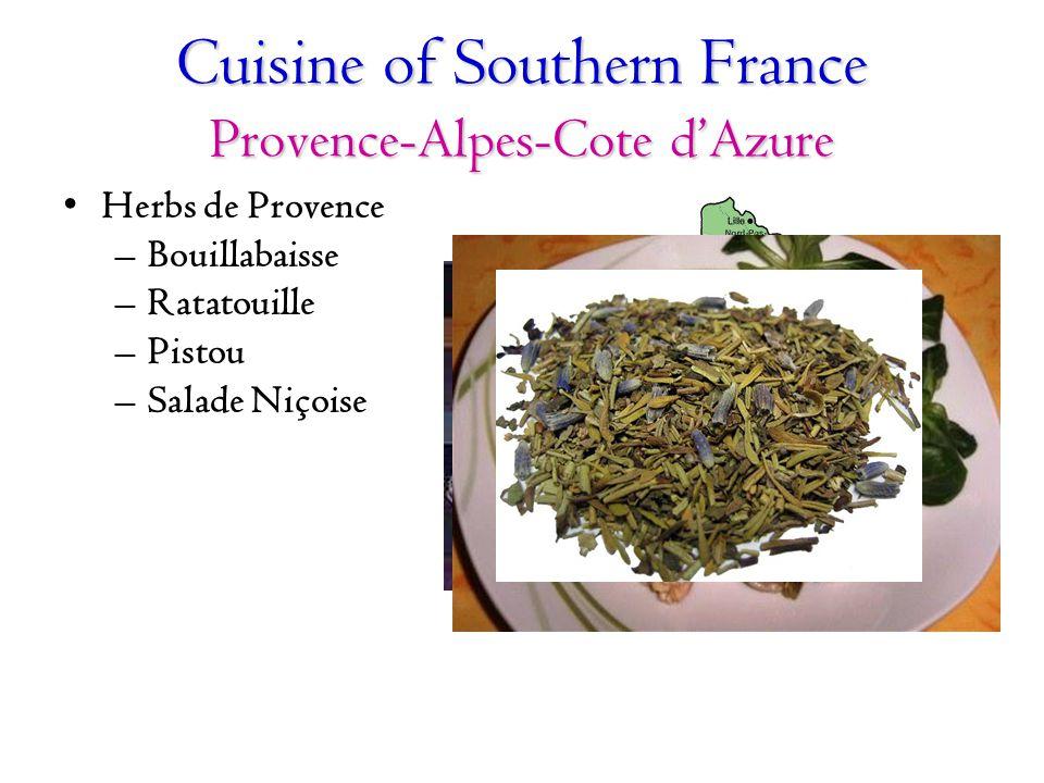 Cuisine of Southern France Provence-Alpes-Cote d'Azure