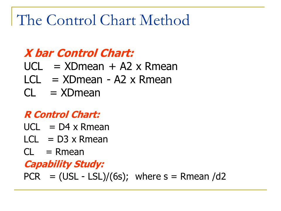The Control Chart Method