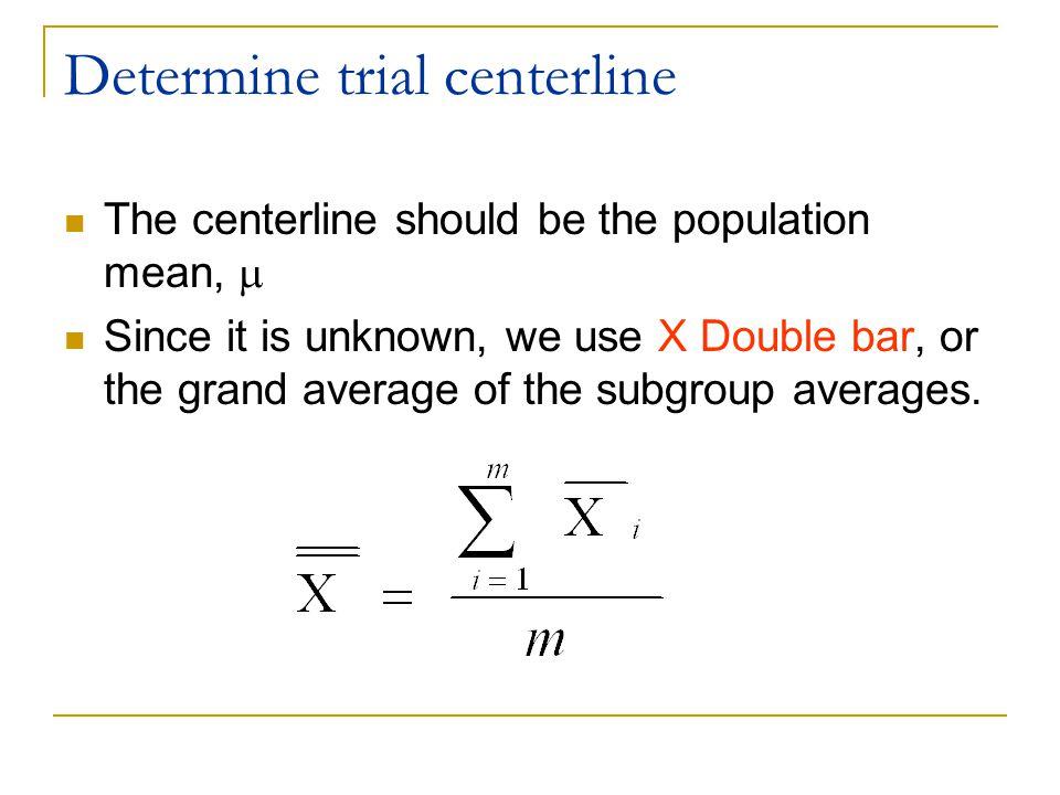 Determine trial centerline