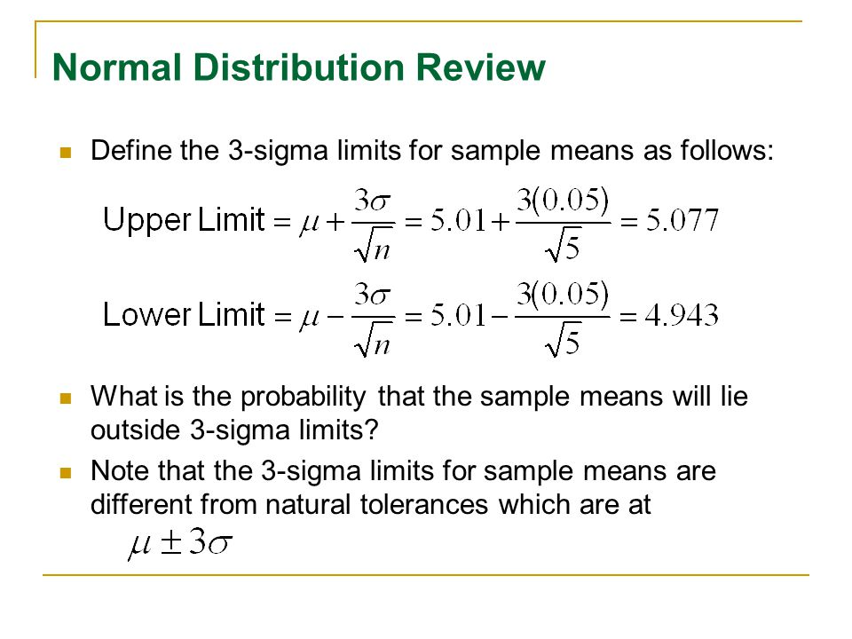 Normal Distribution Review