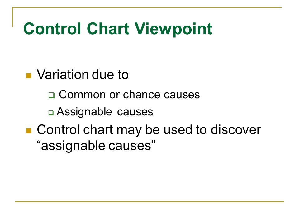 Control Chart Viewpoint