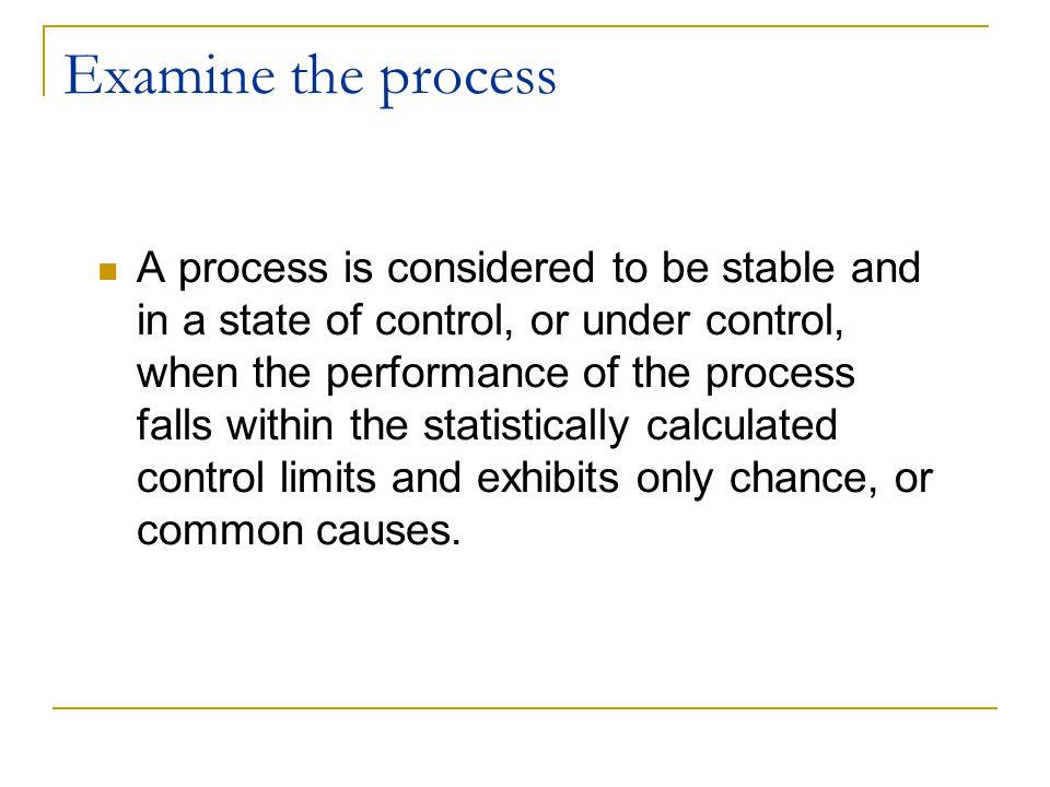 Examine the process