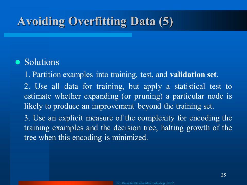 Avoiding Overfitting Data (5)