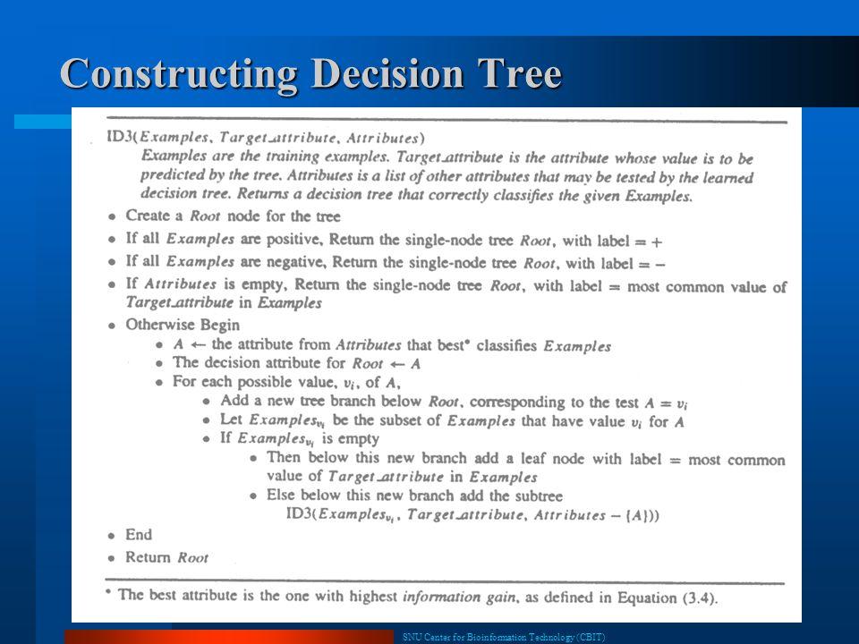 Constructing Decision Tree
