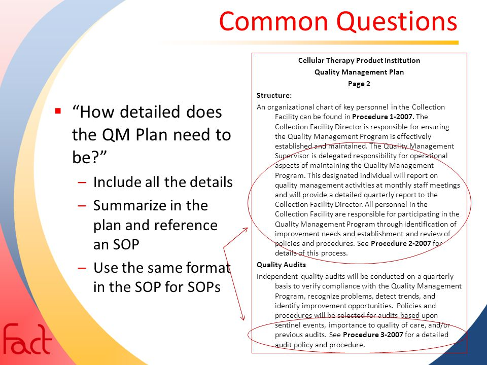 Establishing And Implementing A Quality Management Plan - Ppt Download