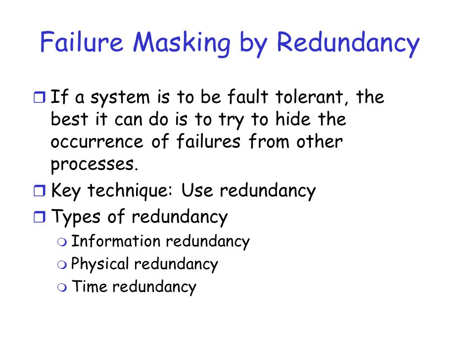 Failure Masking by Redundancy