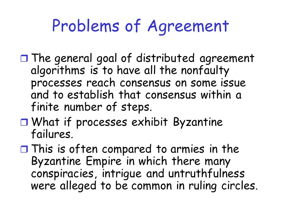 Problems of Agreement
