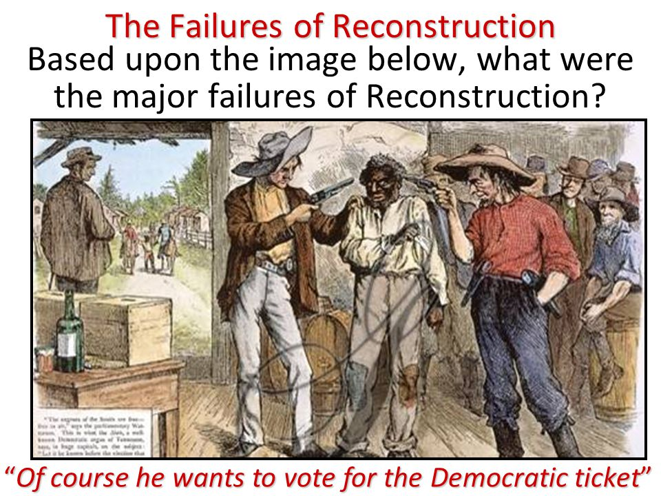 The Failures of Reconstruction