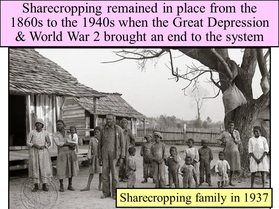 Sharecropping family in 1937