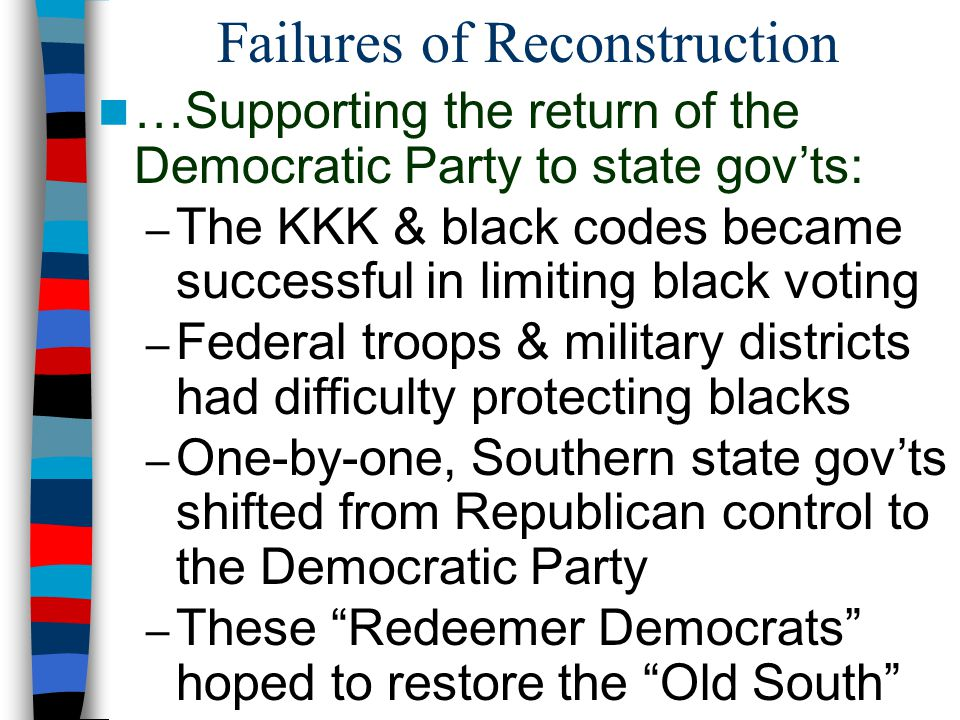Failures of Reconstruction