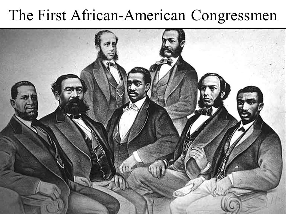 The First African-American Congressmen
