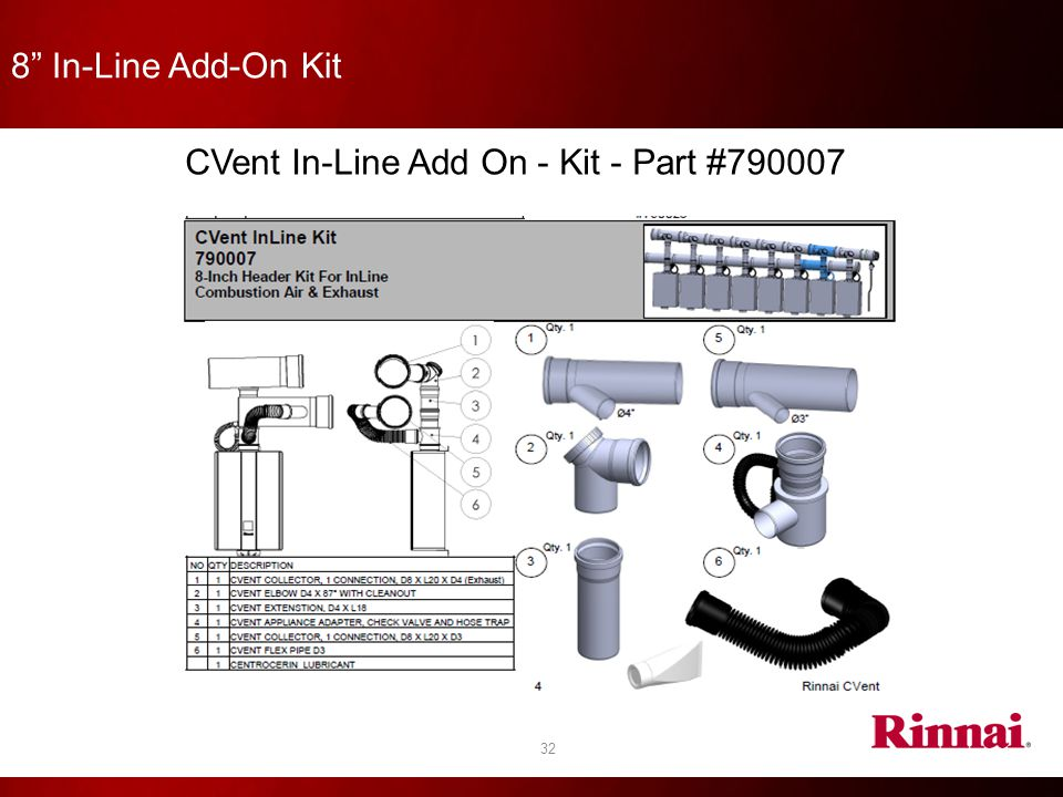 CVent In-Line Add On - Kit - Part #790007