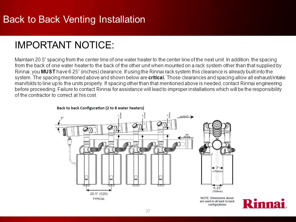 Back to Back Venting Installation