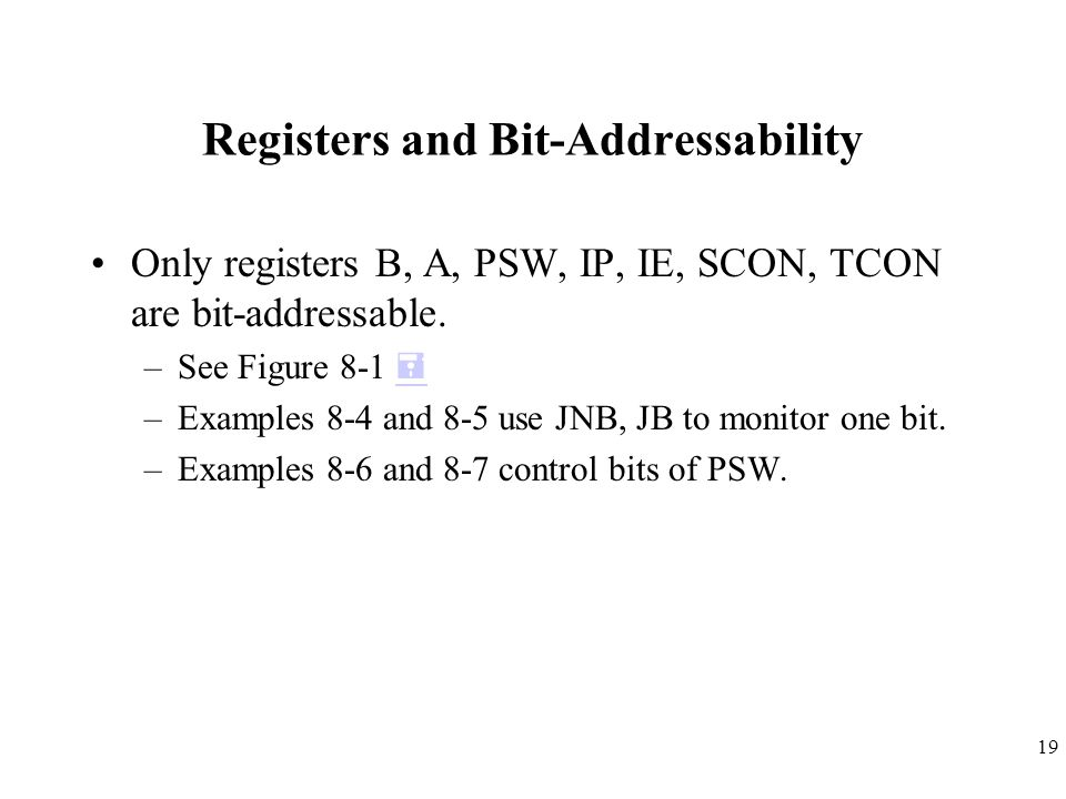Registers and Bit-Addressability