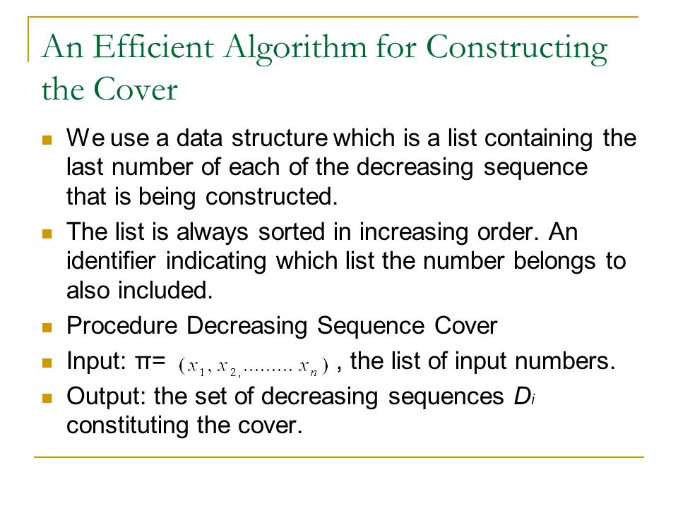 An Efficient Algorithm for Constructing the Cover