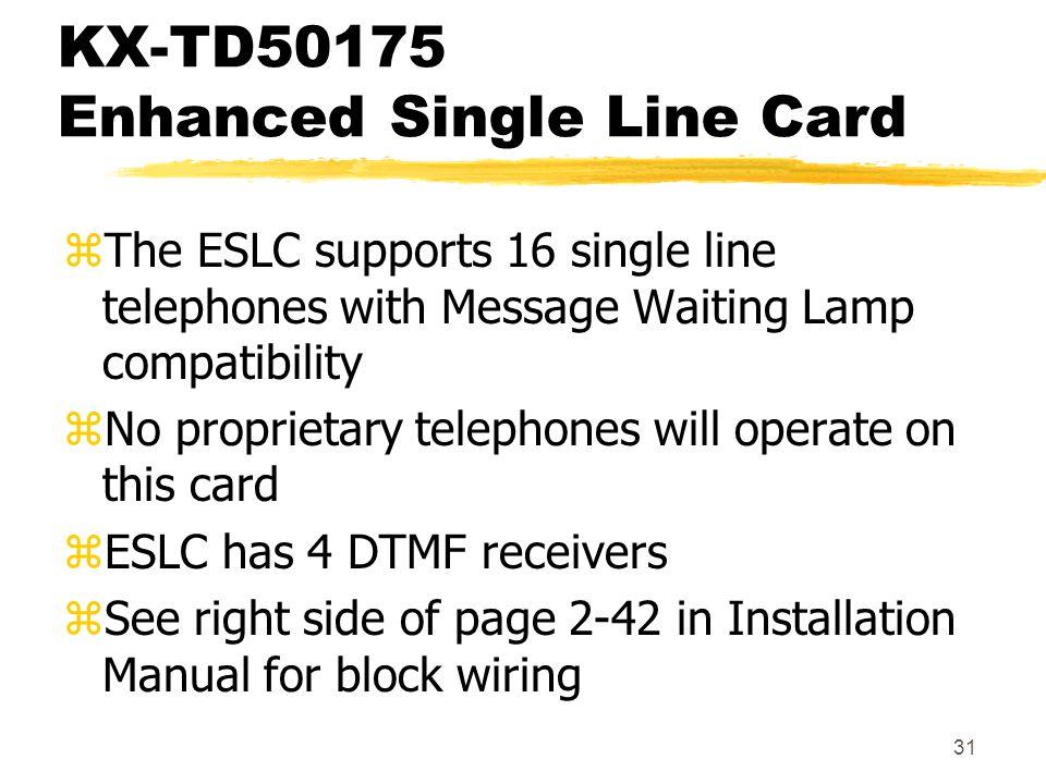 KX-TD50175 Enhanced Single Line Card