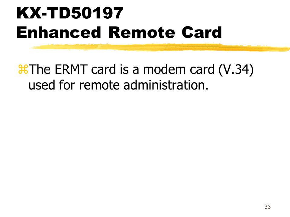 KX-TD50197 Enhanced Remote Card