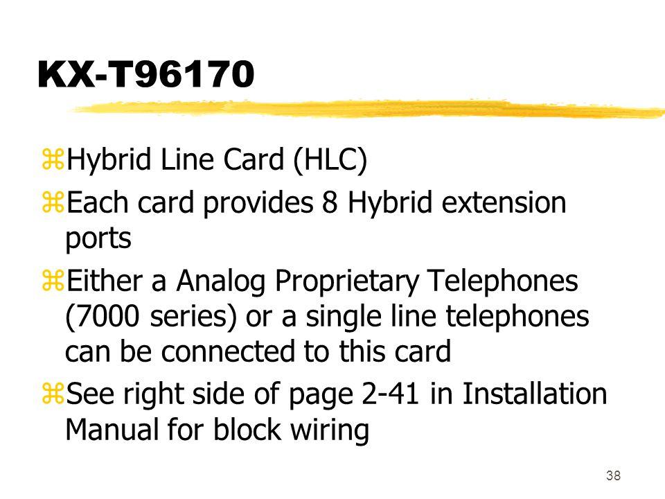 KX-T96170 Hybrid Line Card (HLC)
