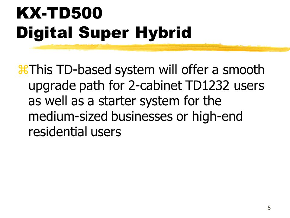 KX-TD500 Digital Super Hybrid