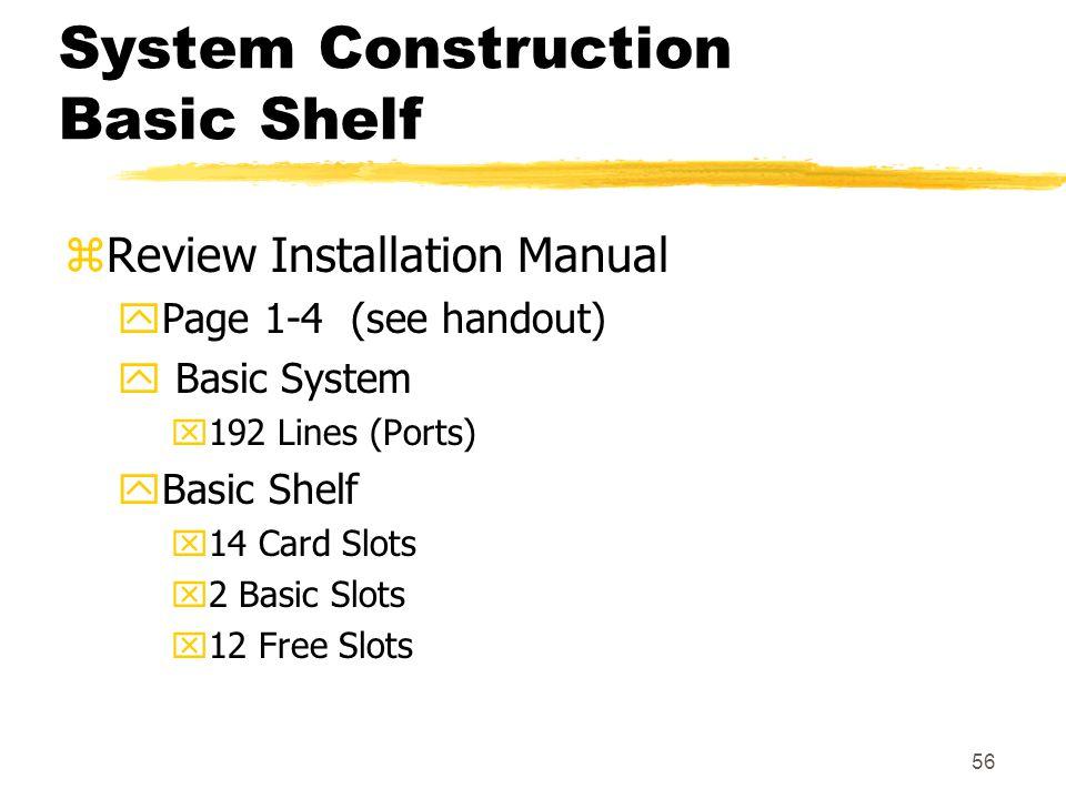 System Construction Basic Shelf