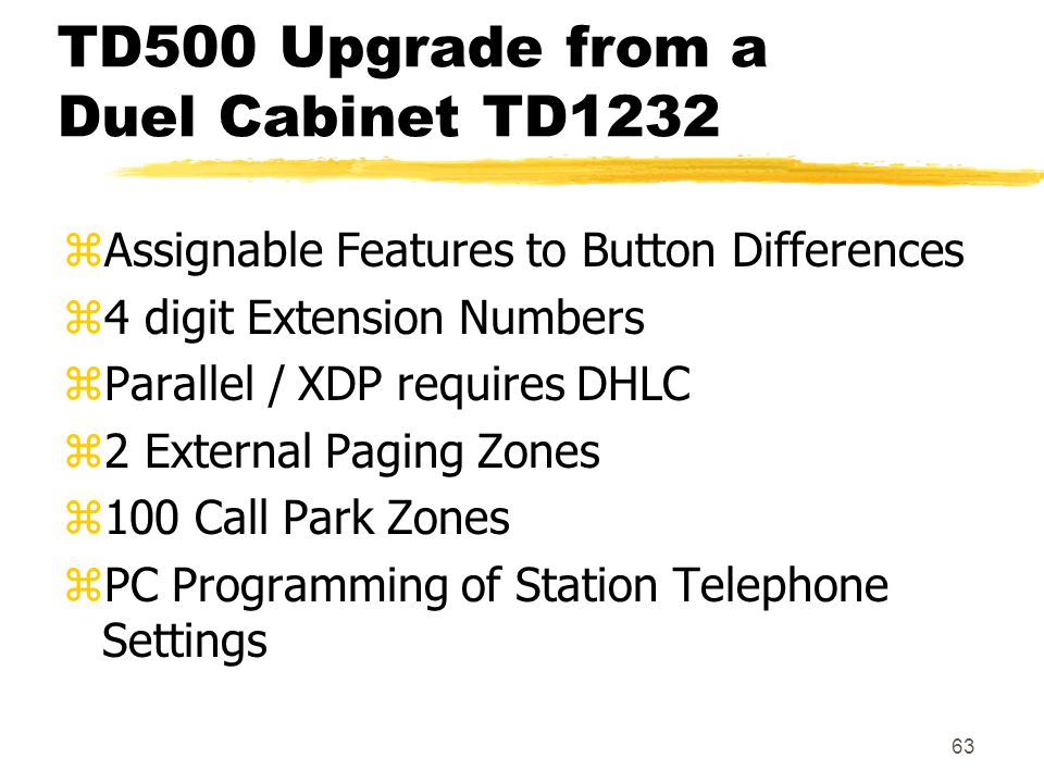 TD500 Upgrade from a Duel Cabinet TD1232