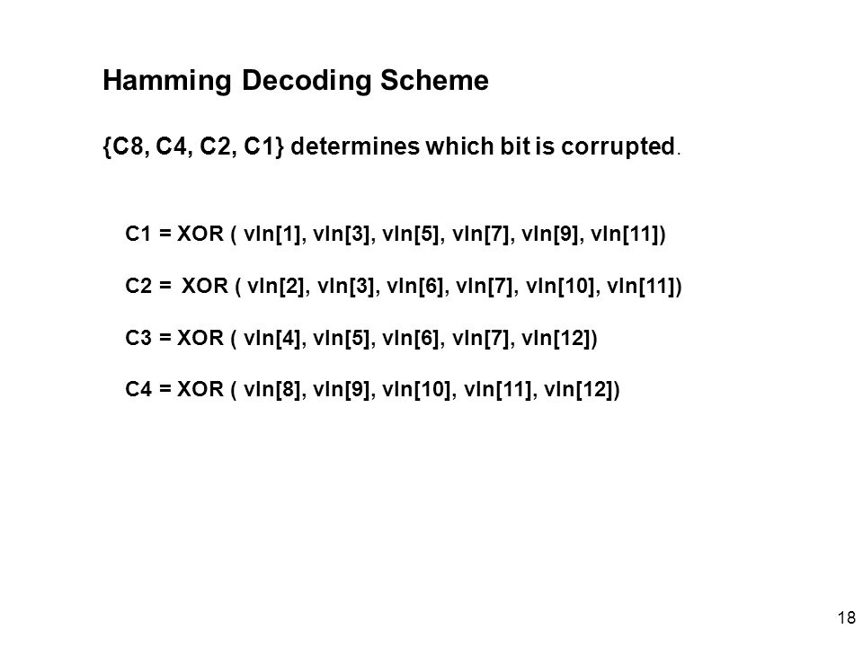 Hamming Decoding Scheme