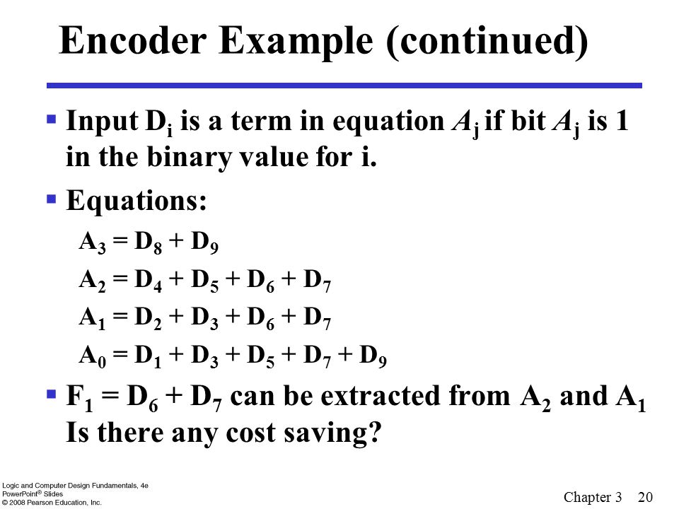 Encoder Example (continued)