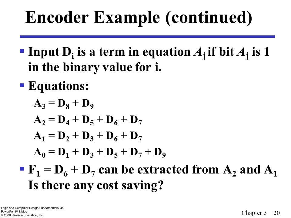 Encoder Example (continued)